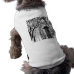 Column Under Weeping tree Black and White Picture Doggie T Shirt
