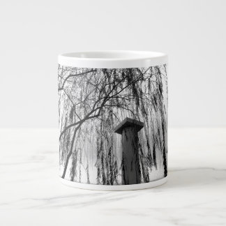 Column Under Weeping tree Black and White Picture Giant Coffee Mug