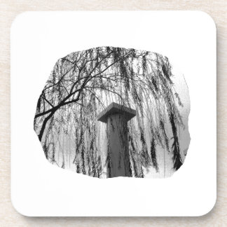 Column Under Weeping tree cutout Drink Coasters