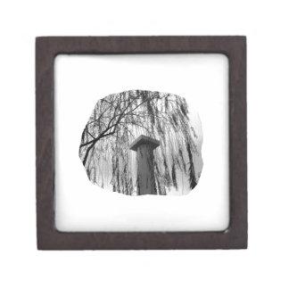 Column Under Weeping tree cutout Gift Box