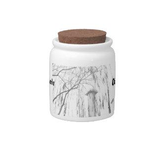 Column Under Weeping Tree High Dynamic range Candy Jars