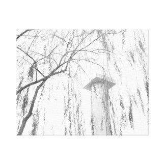 Column Under Weeping Tree High Dynamic range Canvas Print