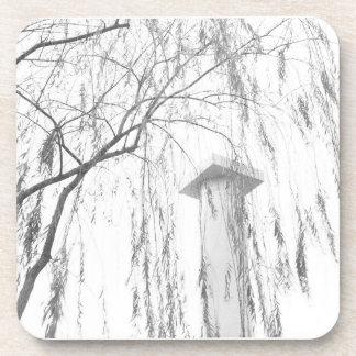 Column Under Weeping Tree High Dynamic range Beverage Coasters