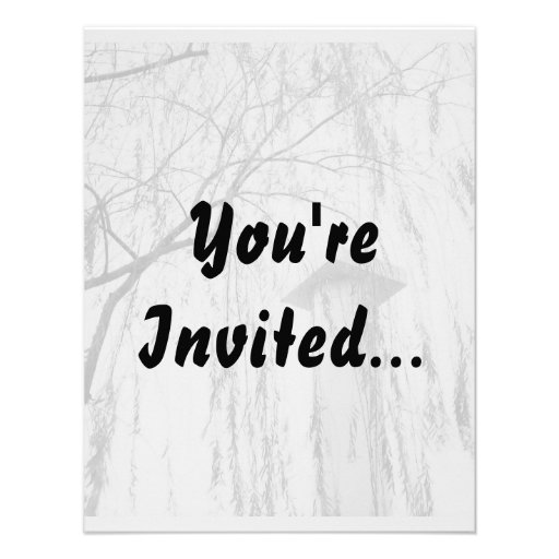 Column Under Weeping Tree High Dynamic range Personalized Invitation