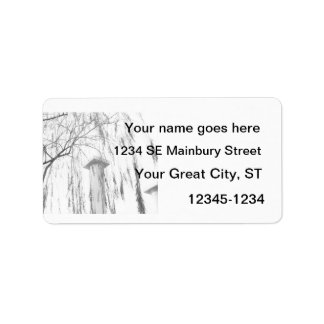 Column Under Weeping Tree High Dynamic range Address Label