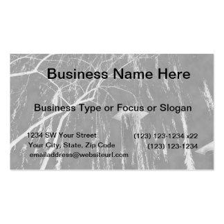 Column Under Weeping Tree Reverse Negative Business Card