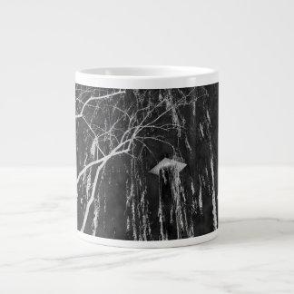 Column Under Weeping Tree Reverse Negative Giant Coffee Mug