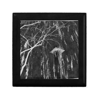 Column Under Weeping Tree Reverse Negative Jewelry Box