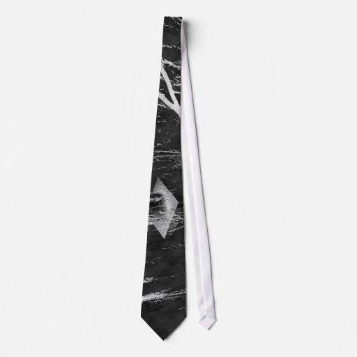 Columna bajo negativa reversa del árbol que llora corbatas personalizadas