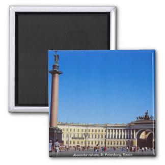 Columna de Alexander, St Petersburg, Rusia Imán Cuadrado