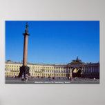 Columna de Alexander, St Petersburg, Rusia Poster