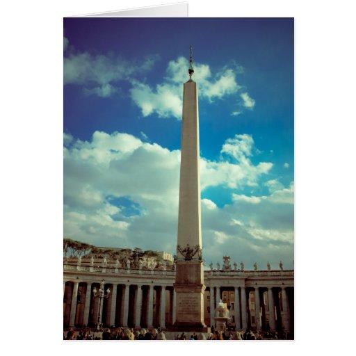 Columna de la Ciudad del Vaticano Tarjetas