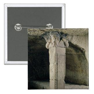 Columna de la cripta, con la cabeza de Moses Pin Cuadrada 5 Cm