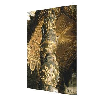 Columna del azúcar de cebada del Baldacchino Impresiones De Lienzo