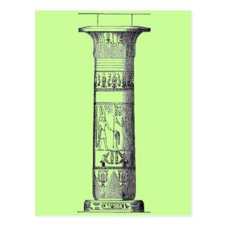 Columna egipcia tarjetas postales