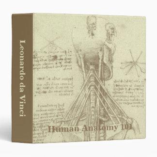 "Columna espinal de la anatomía humana de Leonardo Carpeta 1 1/2"""
