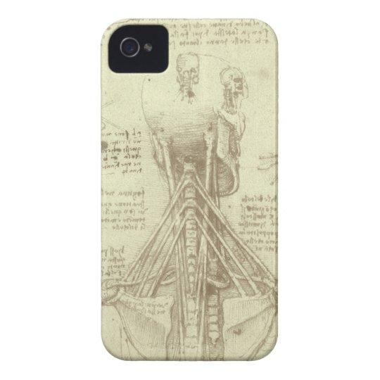 Columna espinal de la anatomía humana de Leonardo Funda Para iPhone 4 De Case-Mate