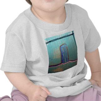 Columna Fractalized y Recursed del contorno de Bez Camiseta