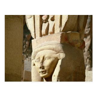 columna Hathor-dirigida, de la capilla de Postal