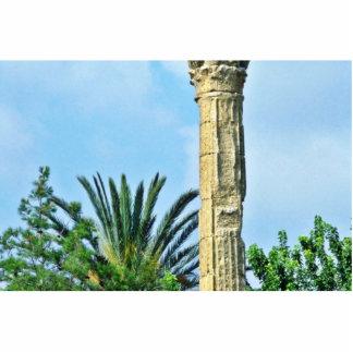 Columna romana, jerarquía de la cigüeña, Perge Escultura Fotográfica