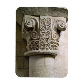 Columna tallada adornada con los báculos pastorale imán rectangular