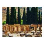Columnas antiguas Hierapolis, Turquía Tarjeta Postal