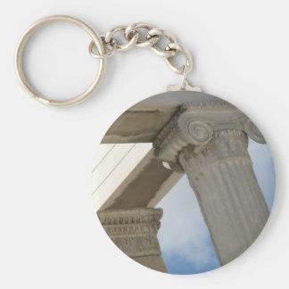 Columnas arquitectónicas del griego clásico llavero