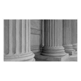 Columnas de mármol tarjetas de visita