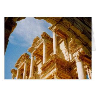 columnas del ephesus tarjeta de felicitación