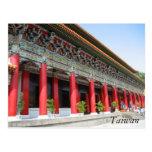 Columnas del rojo de Taiwán Tarjetas Postales