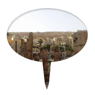 Columnas del teatro romano de Amman medias Figura Para Tarta