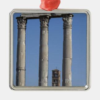 Columnas del templo del echador y de Pólux con Adorno De Navidad
