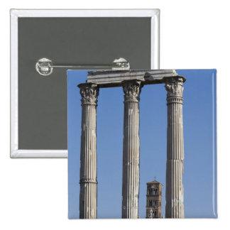 Columnas del templo del echador y de Pólux con Pin Cuadrada 5 Cm