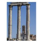 Columnas del templo del echador y de Pólux con Postal