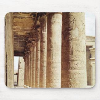 Columnas en el Pronaos del templo de Horus Alfombrilla De Ratones