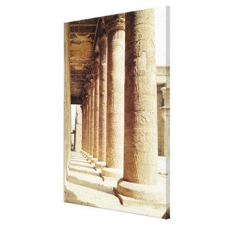 Columnas en el Pronaos del templo de Horus Impresiones De Lienzo