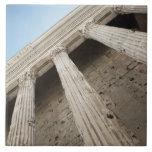 Columnas romanas 2 azulejo cuadrado grande
