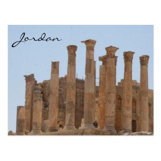 columnas romanas del jerash postal