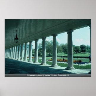 Columnata, ala del este, la casa de la reina, Gree Posters