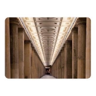 Columnata Alte Nationalgalerie en Berlín Alemania Invitación 12,7 X 17,8 Cm
