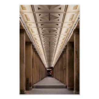 Columnata Alte Nationalgalerie en Berlín Alemania Impresiones