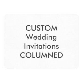 "COLUMNED 110lb 7.5"" x 5.5"" Wedding Invitations"