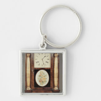 Columned clock, c.1855 Silver-Colored square keychain