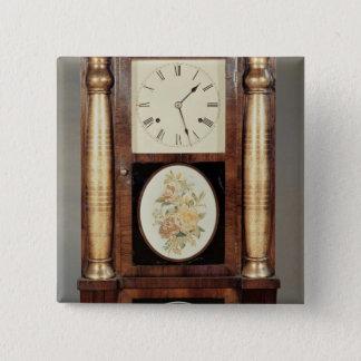 Columned clock, c.1855 pinback button