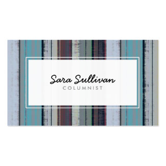 Columnist Retro Stripe Pattern Publishing Double-Sided Standard Business Cards (Pack Of 100)