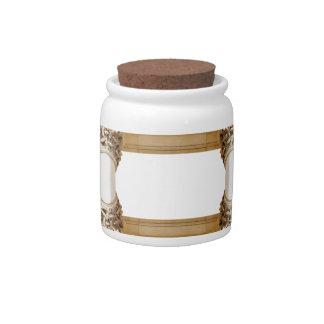 Columns design candy jar