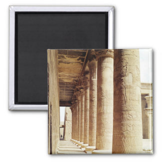 Columns in the Pronaos  of the Temple of Horus Magnet