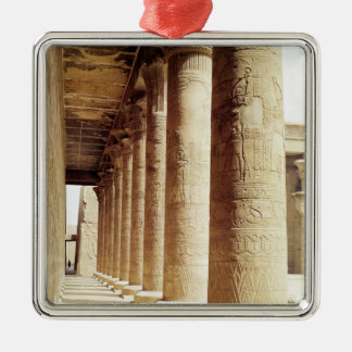 Columns in the Pronaos  of the Temple of Horus Metal Ornament