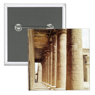 Columns in the Pronaos  of the Temple of Horus Pinback Button