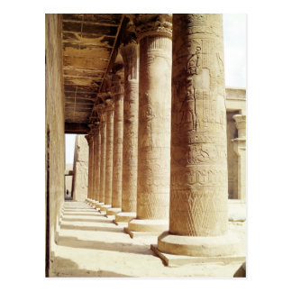 Columns in the Pronaos  of the Temple of Horus Postcard